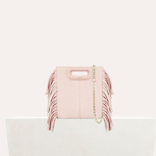 M mini-bag with chain : Bags color Nude