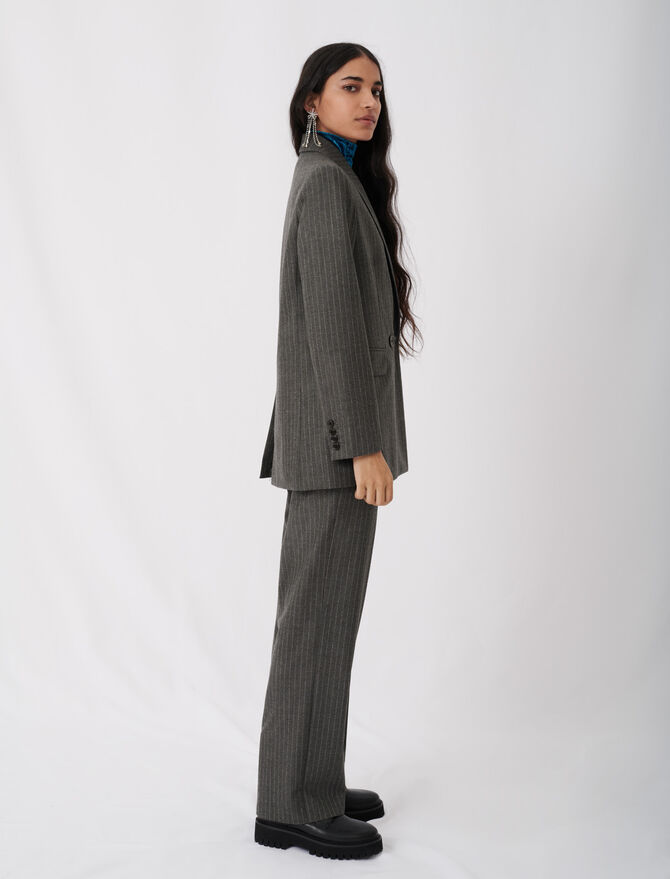 Suit jacket with tennis stripes -  - MAJE