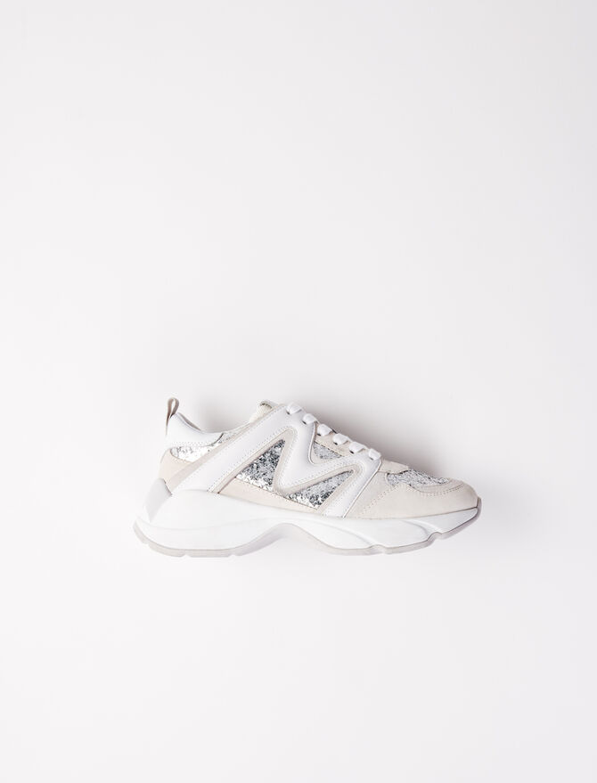 W22 glittery trainers -  - MAJE