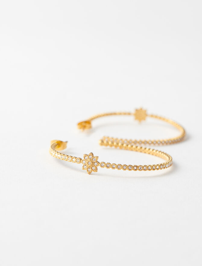 Gold-plated Creole earrings -  - MAJE