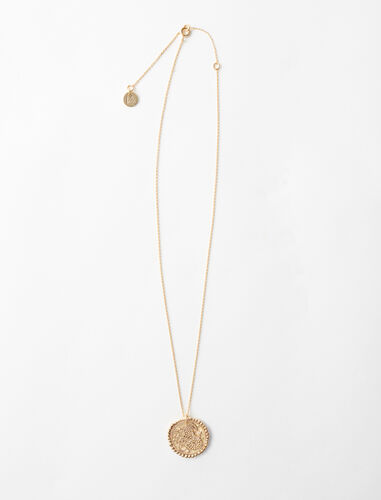 Capricorn zodiac sign necklace : Jewelry color Old Brass