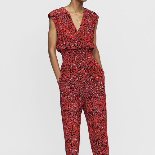 Sleeveless jumpsuit : Trousers color PRINTED