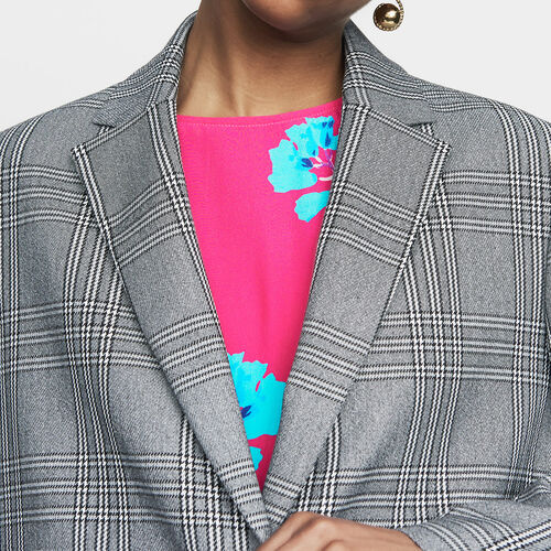 Suit jacket : Blazers color CARREAUX