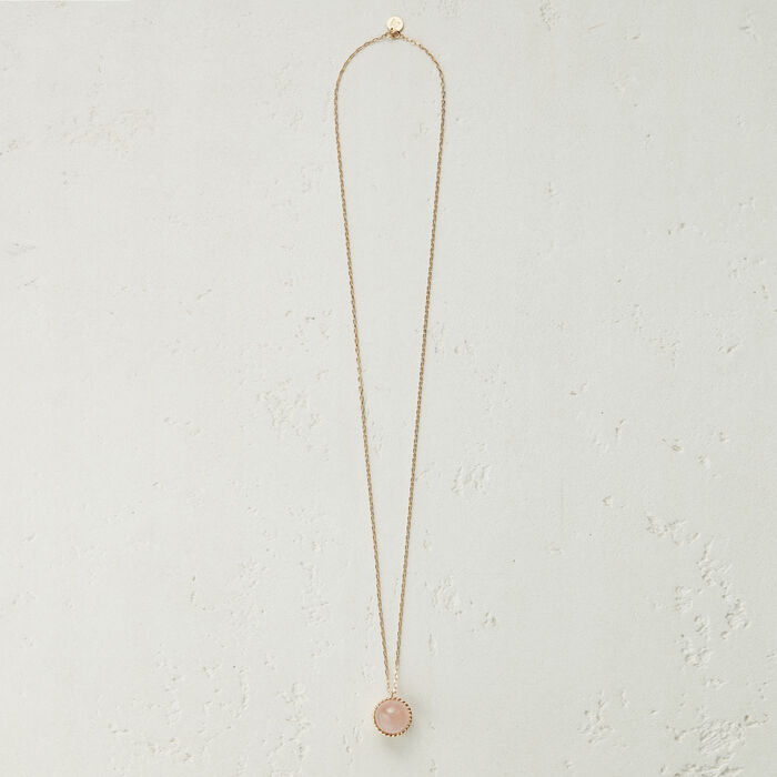 Necklace with natural stone : Jewelry color Pale Pink