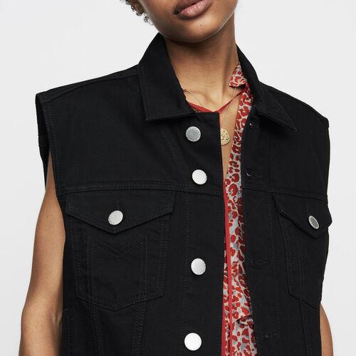 Denim vest : Jackets color Black 210