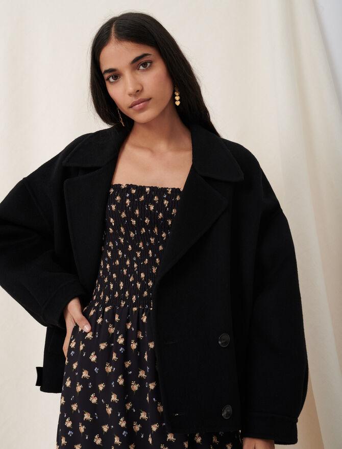 Double face and leather-effect jacket - Coats & Jackets - MAJE