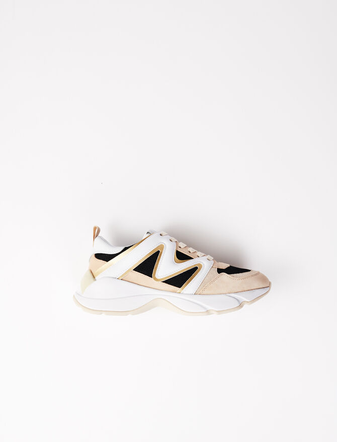 W22 material mix trainers - Sneakers - MAJE