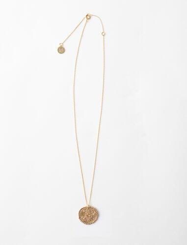 Virgo zodiac sign necklace : Jewelry color Old Brass