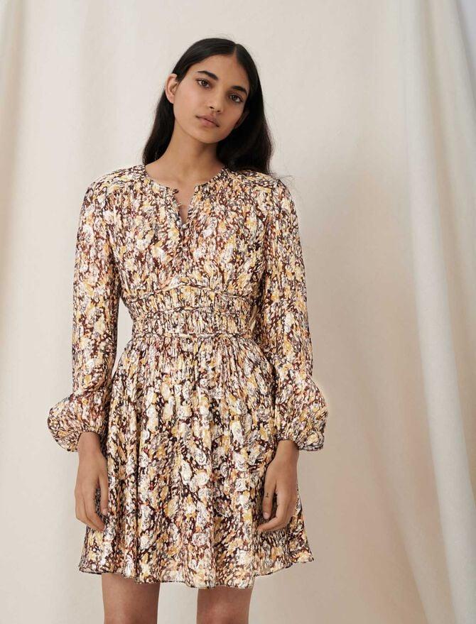 Lurex jacquard dress with animal print - This week - MAJE