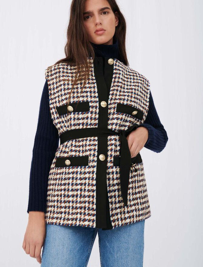 Tweed-style cardigan-inspired jacket -  - MAJE
