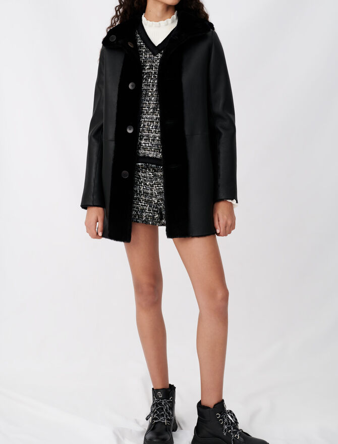 Reversible shearling coat - Coats & Jackets - MAJE