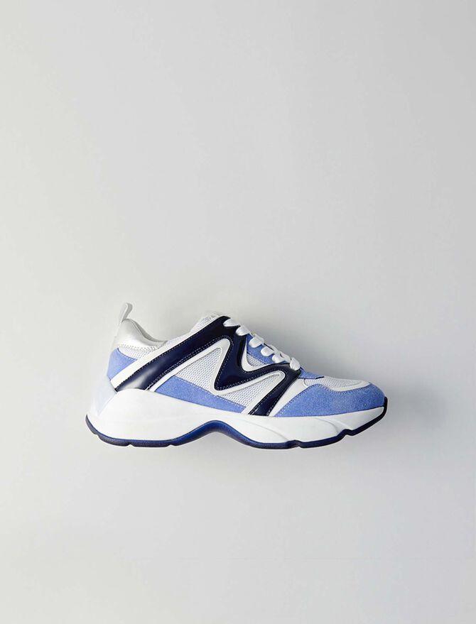 W22 mixed material sneakers - Présoldes-Accessoires-BE - MAJE