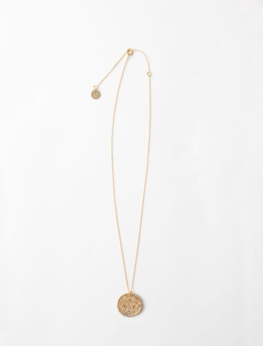 Libra zodiac sign necklace : Jewelry color Old Brass