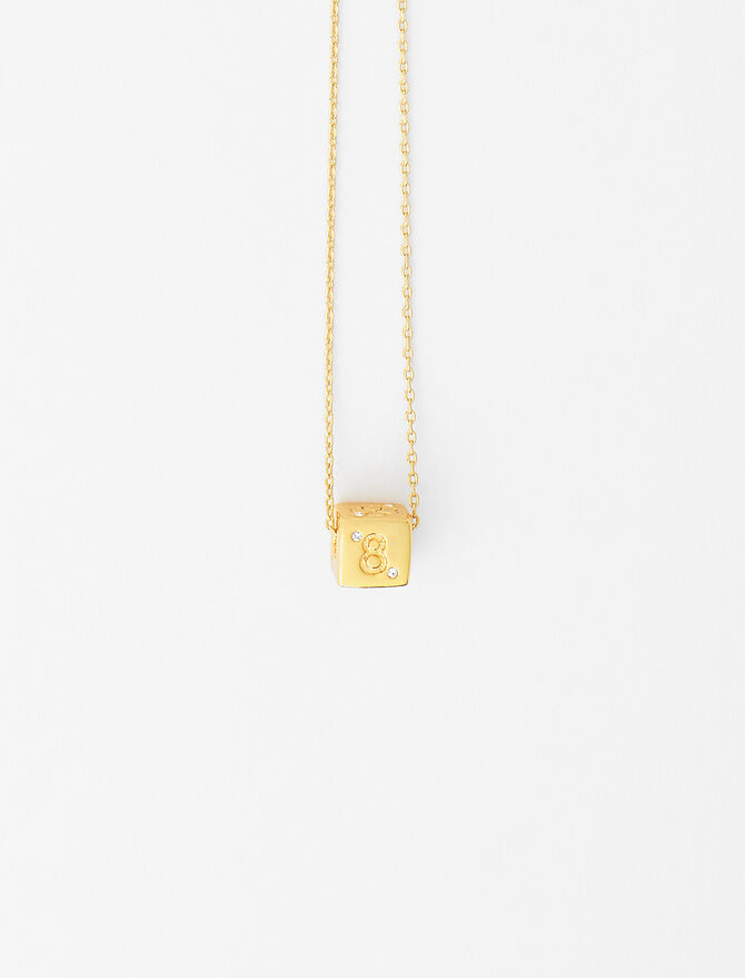 Number 8 dice necklace -  - MAJE
