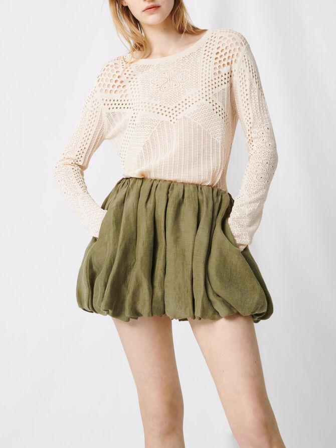 Draped mini skirt - Skirts & Shorts - MAJE