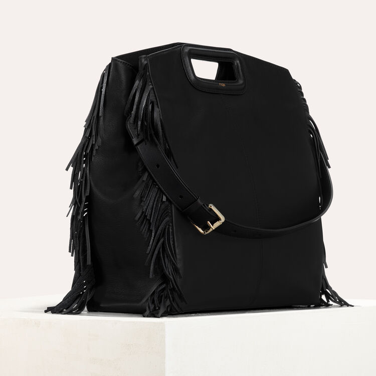Tote with leather fringe : Totes & M Walk color Black 210