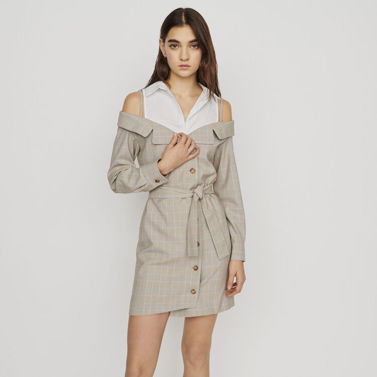 Dress with trompe-l'oeil effect : New in : Summer Collection color CARREAUX