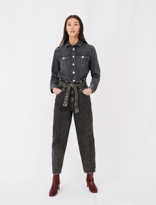 Slouchy jeans : Eco-friendly color Anthracite