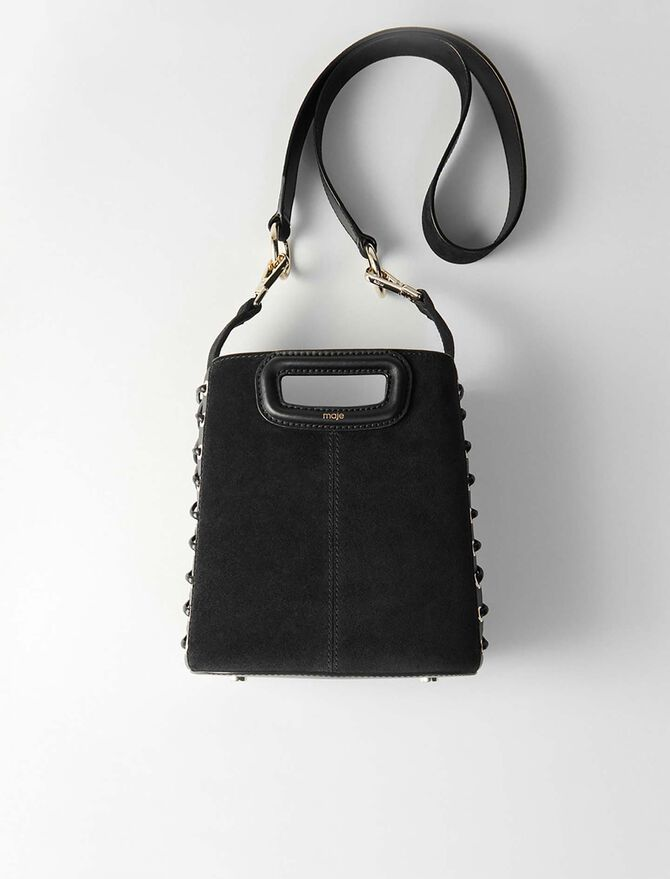 Lace-up suede M bucket bag - Last Chance - MAJE