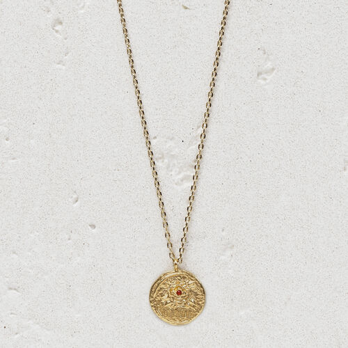 """Necklace with medallion """"Ma vie"""" : Jewelry color GOLD"""
