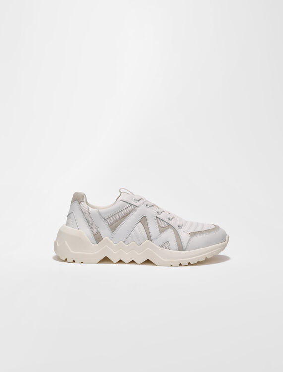 Leather trainers with lug sole - Sneakers - MAJE