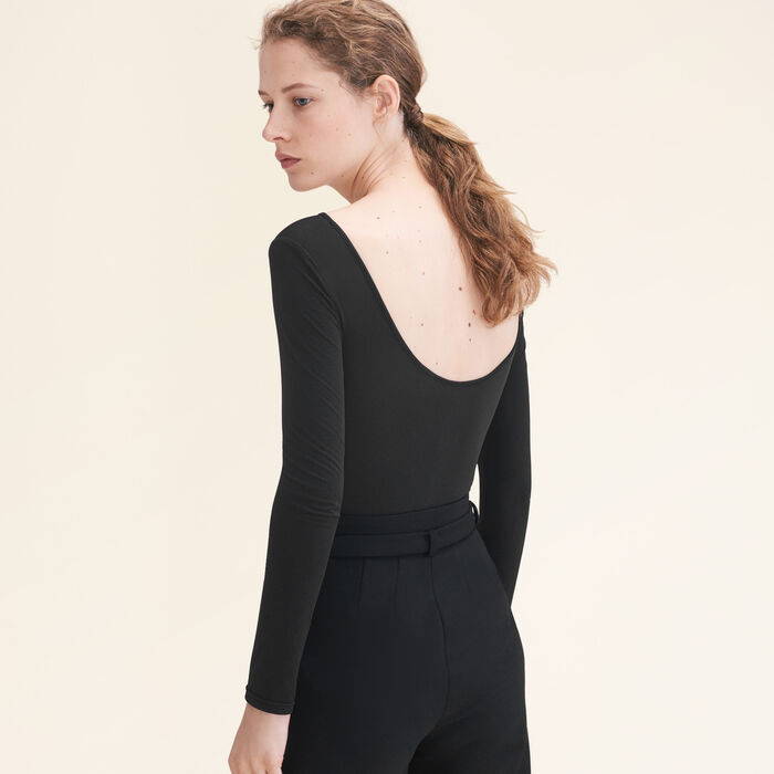 Long-sleeved jersey body : Summerparty-T-shirts-IT color Black 210