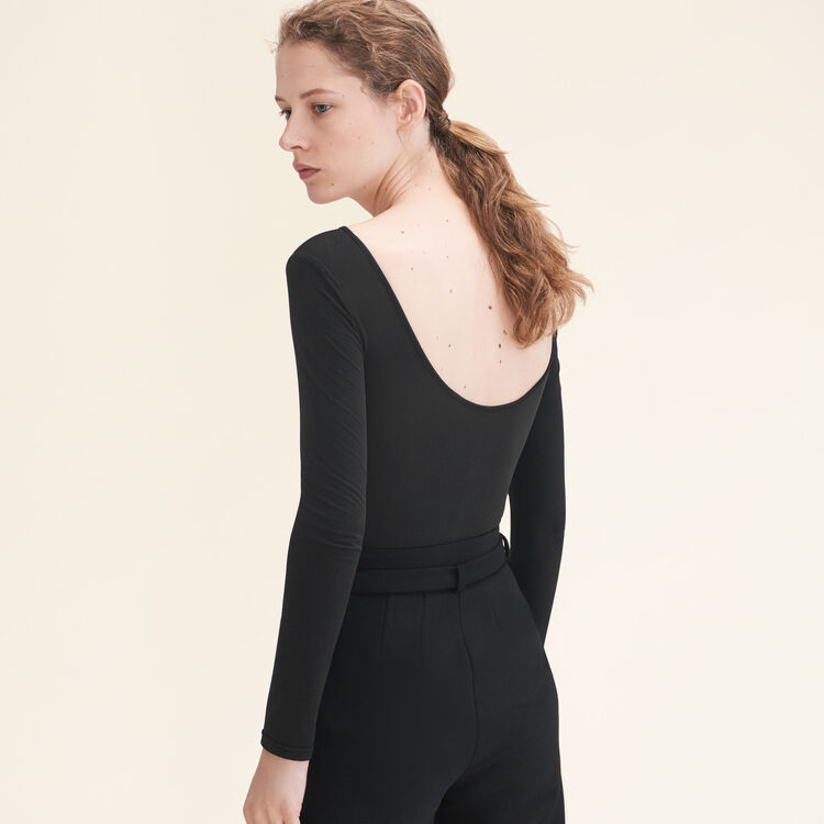 Long-sleeved jersey body : See all color Black 210