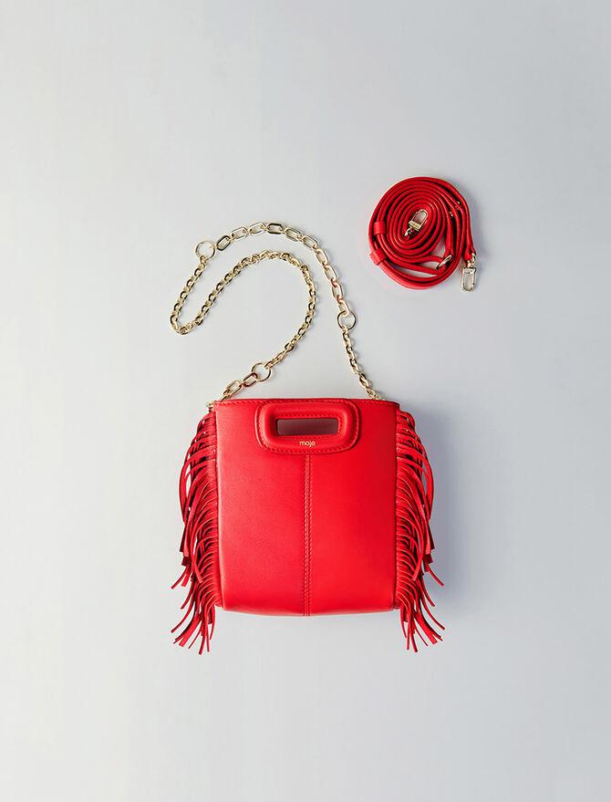 Mini leather M bag with chain -  - MAJE
