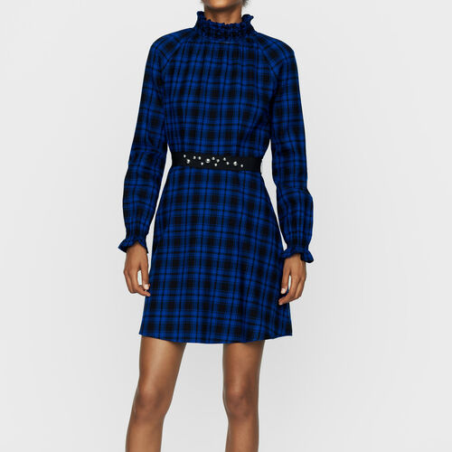 Short plaid dress : Dresses color CARREAUX