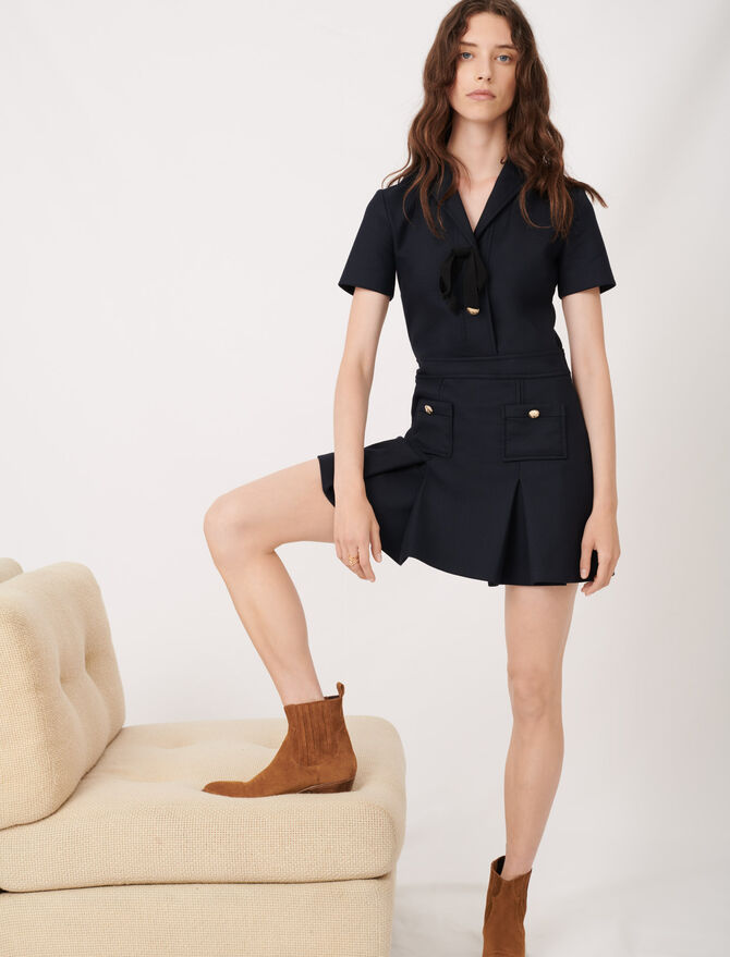 College-style dress with fancy buttons -  - MAJE
