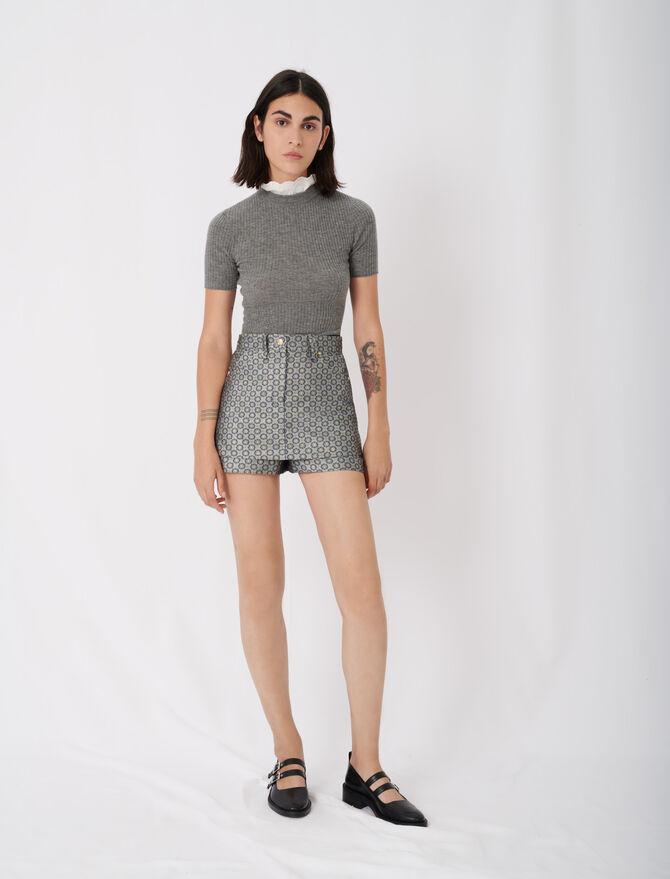 Jacquard trompe-l'œil shorts - Skirts & Shorts - MAJE