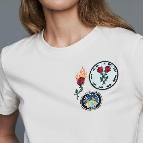 Cotton T-shirt with patch : T-Shirts color Black 210