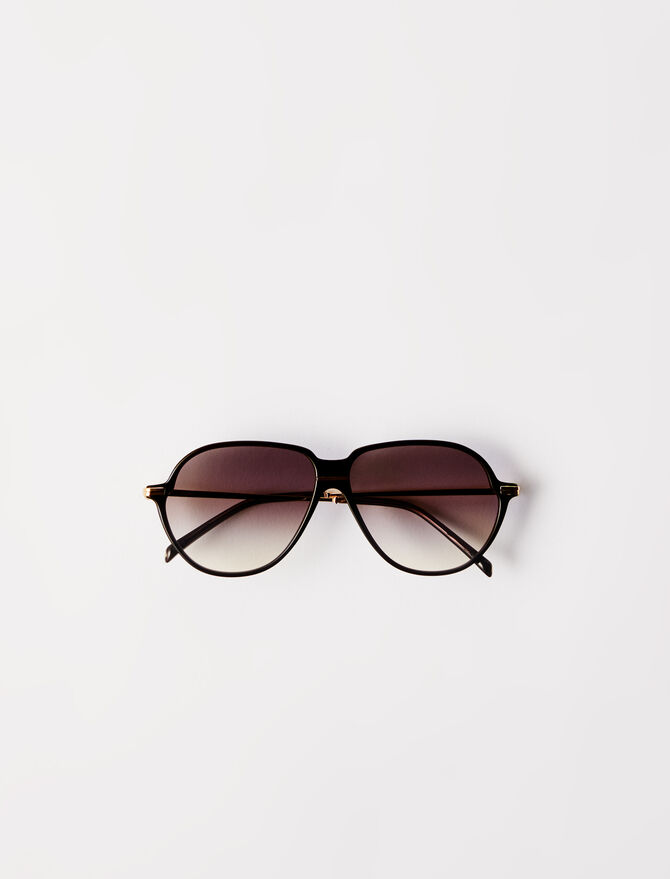 Acetate aviator sunglasses - Eyewear - MAJE