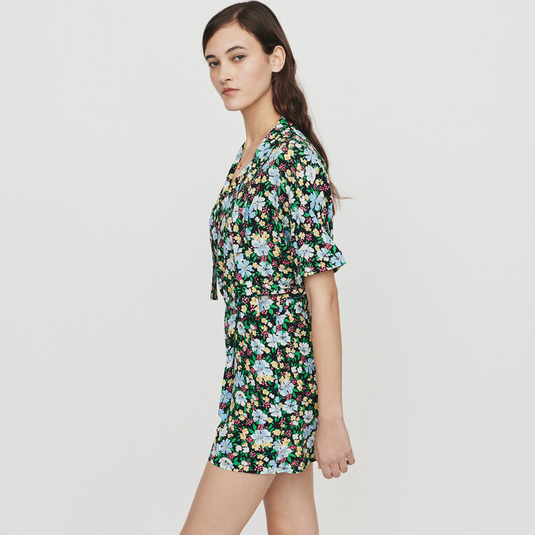 Romper in floral print : Skirts & Shorts color Printed