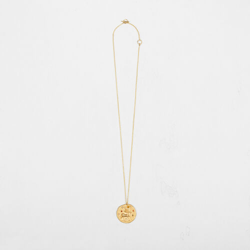 Sagittarius zodiac sign necklace : Collection color GOLD