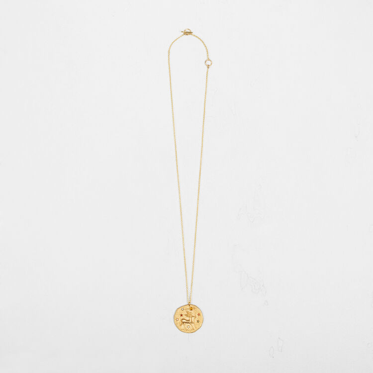 Sagittarius zodiac sign necklace : Party Wear color GOLD