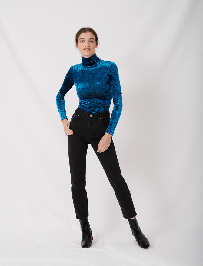 Mom-style high-waisted straight jeans - Trousers & Jeans - MAJE