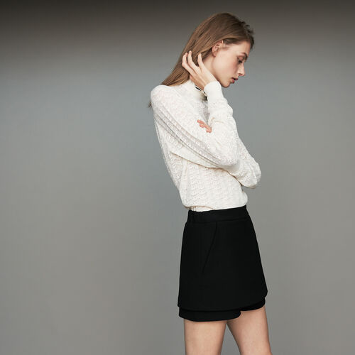Crepe skort : See all color Black 210