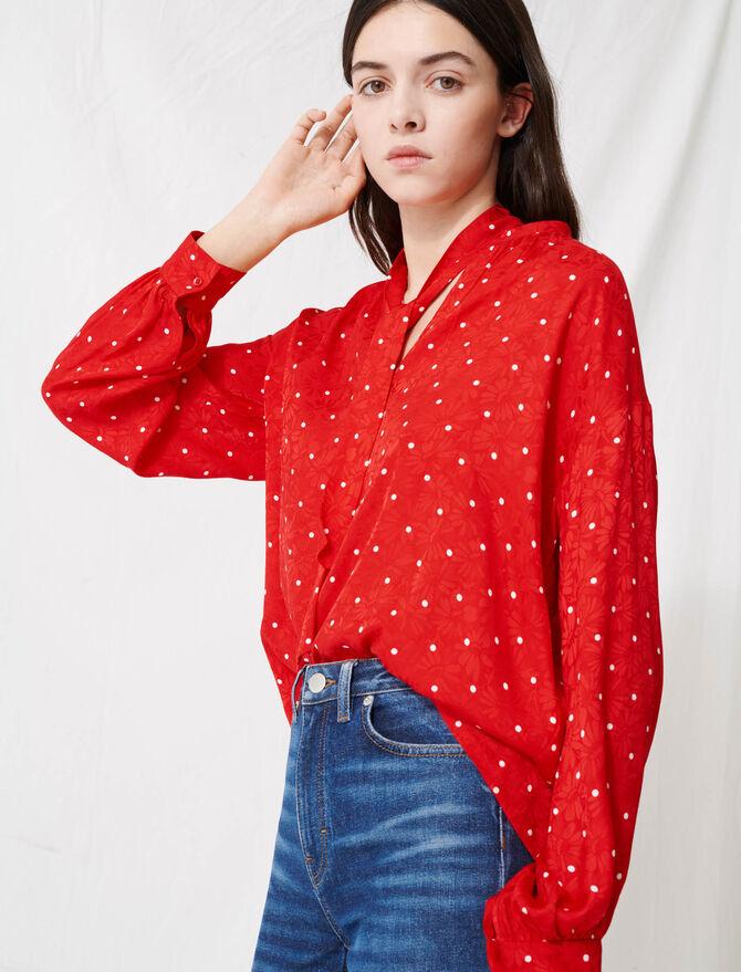 Floaty oversized polka dot blouse - Tops & Shirts - MAJE