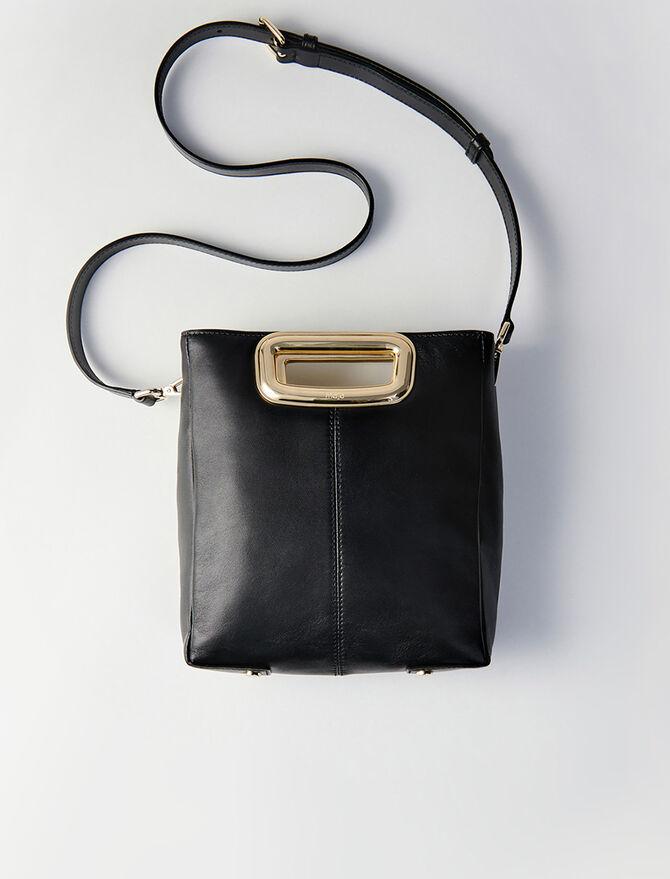 Suede and goldtone metal M Skin bag - M Skin - MAJE