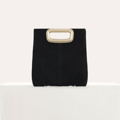 M Skin bag in suede : M bag color Black 210