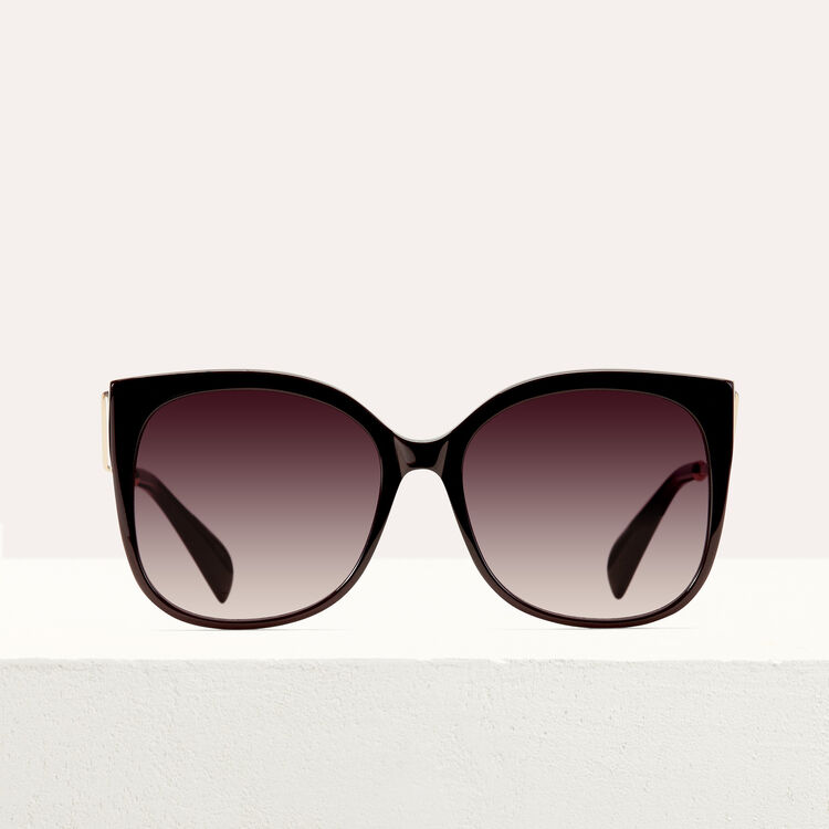 Retro sunglasses : See all color Burgundy