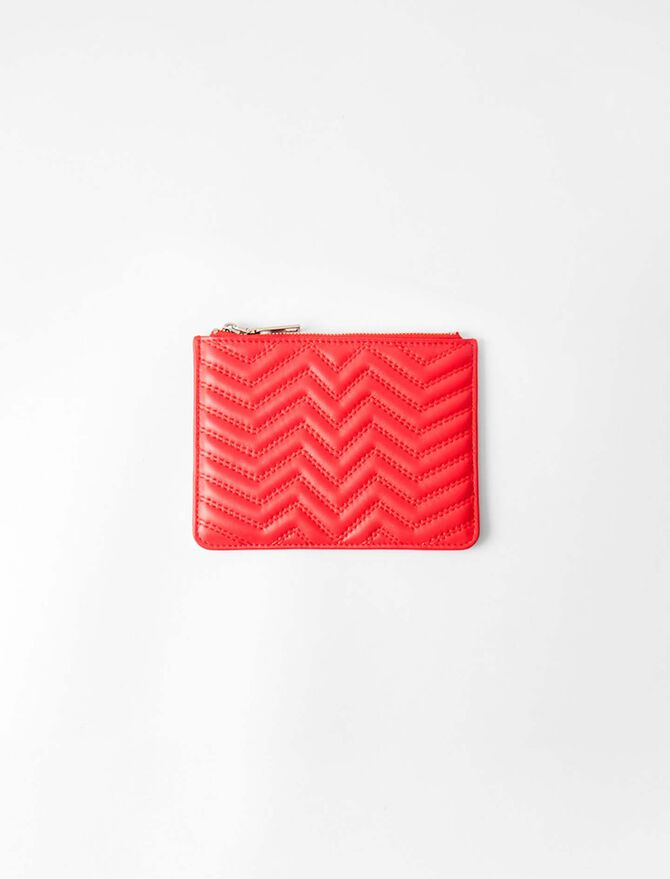 Zipped quilted leather pouch - Small leather goods - MAJE