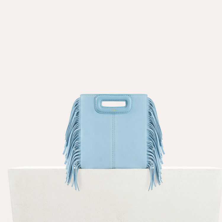 Fringed suede M minibag : staff private sale color Blue Sky
