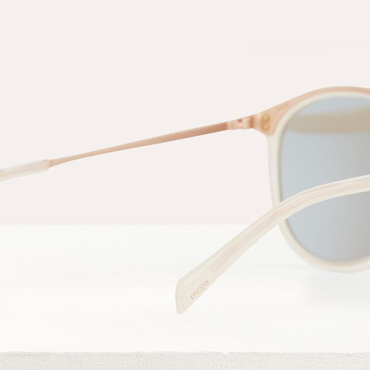 Sunglasses in acetate and metal : Eyewear color Pink