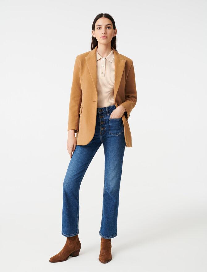 Velvet-style jacket - Blazers - MAJE