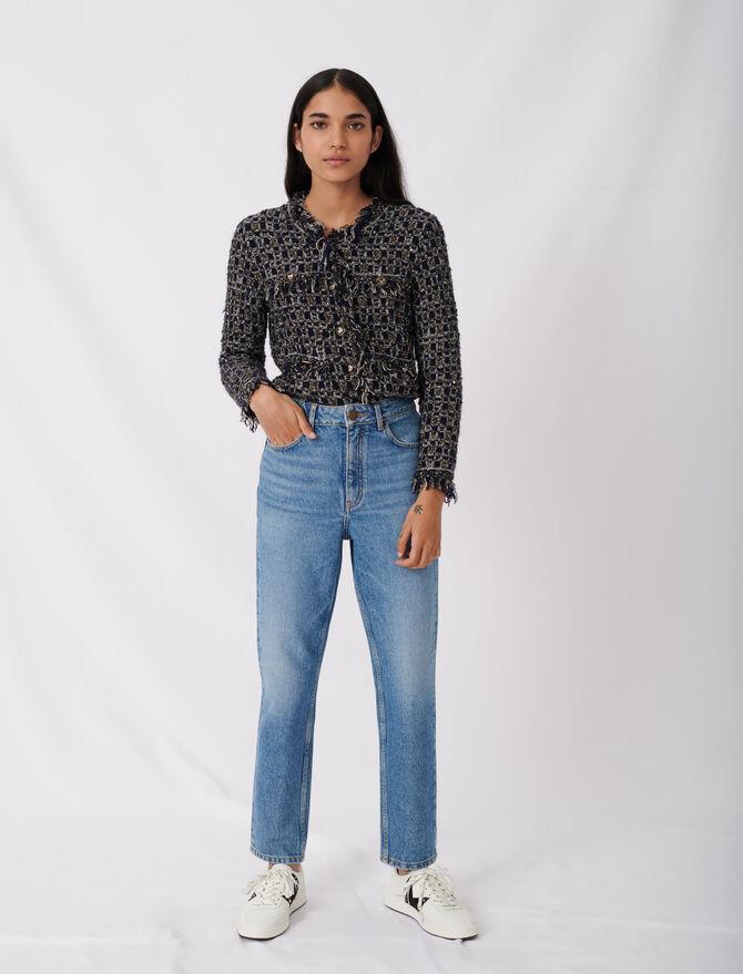 High-waisted jeans - Eco-friendly - MAJE