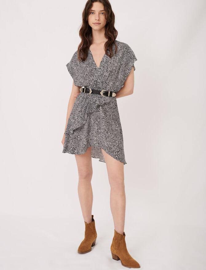Asymmetric animal print dress - Dresses - MAJE