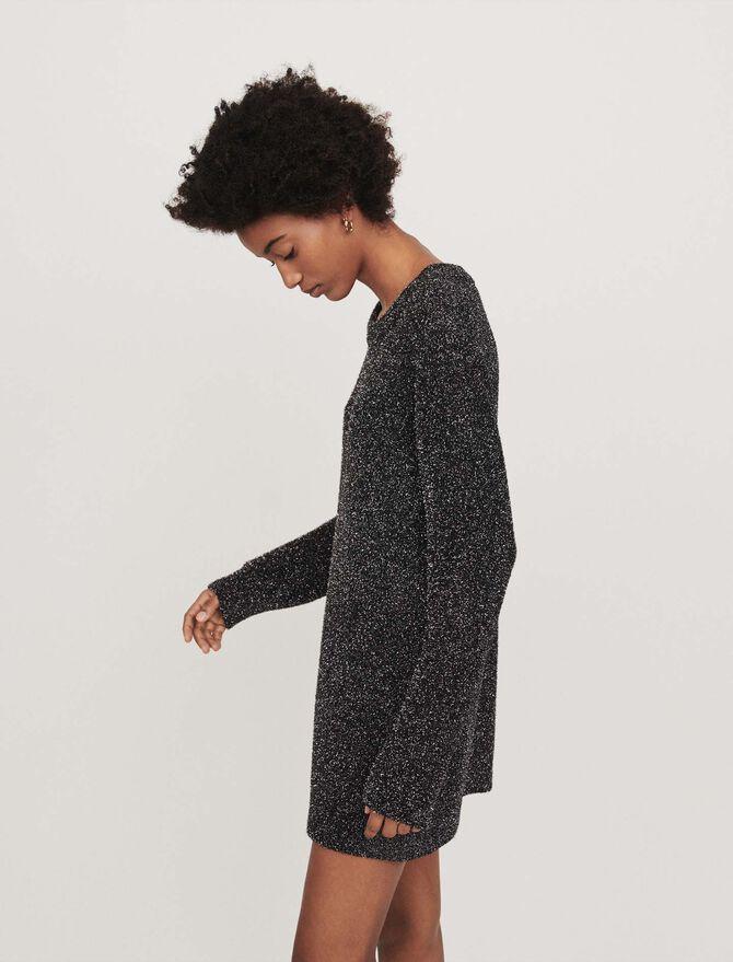 Lurex knit dress - SoldesBE_30 - MAJE