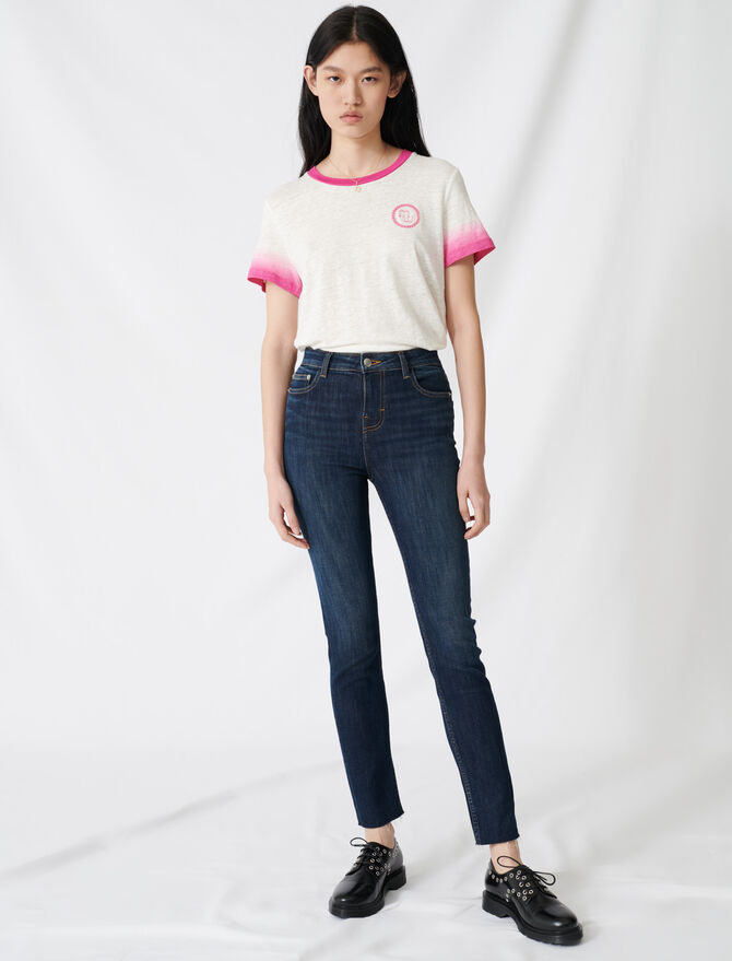 High-waisted slim-fit jeans - Trousers & Jeans - MAJE